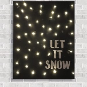 Canvas Elfen & Helden 40×50 Let it Snow