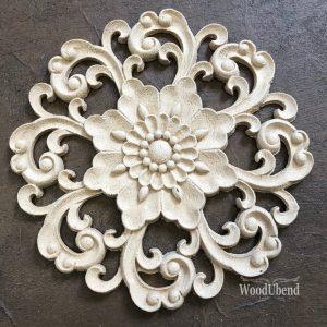 Wood U Bend 2172 Ornament Round Medium