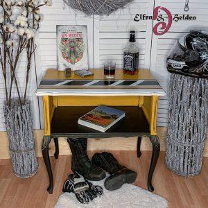 "Side Table Elfen & Helden ""Keep the spirit alive"" hand-painted"