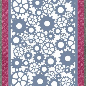 Elfen & Helden – Stencil – Non Adhesive – Reusable – Motif Industrial Elements – Din A3