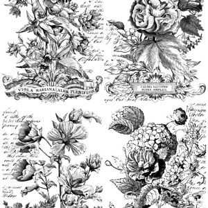 "IOD Paintable Decor Transfer ""Classic Bouquets"""