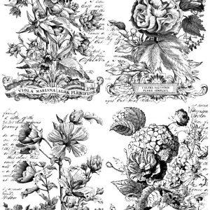 """IOD Paintable Decor Transfer """"Classic Bouquets"""""""