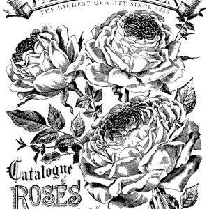 "IOD Paintable Decor Transfer ""Catalogue of Roses"""
