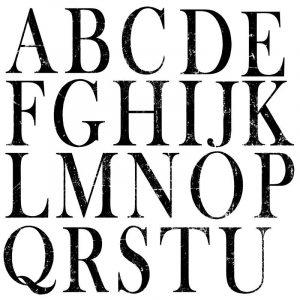 IOD Decor Stempel Buchstaben – 2er Set