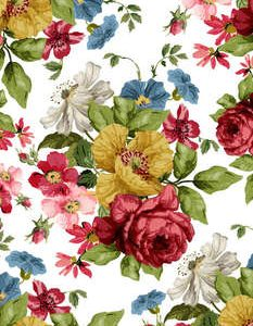 "IOD Paintable Decor Transfer ""WALL Flowers"""