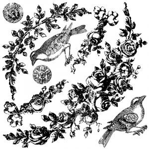 IOD Decor Stempel Floral Swags