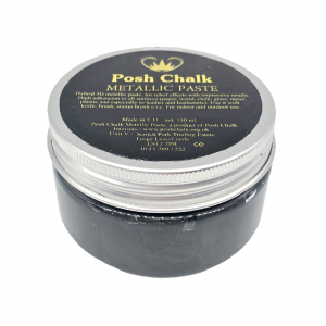 Posh Chalk Metallic Paste –  Black Carbon