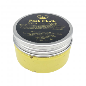 Posh Chalk Metallic Paste –  Yellow Canary Cadmium