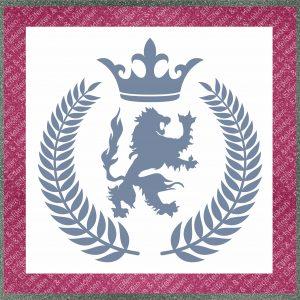 Elfen & Helden – Schablone – nicht klebend – wiederverwendbar – Royal Laurel – 29,5cm