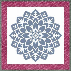 Elfen & Helden – Schablone – nicht klebend – wiederverwendbar – Mandala Flower – 21cm