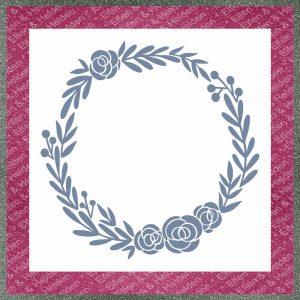 Elfen & Helden – Schablone – nicht klebend – wiederverwendbar – Floral Wreath – 29,5cm