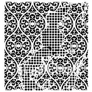 Posh Chalk – Schablone – nicht klebend – wiederverwendbar –  Aged Wallpaper 50x50cm