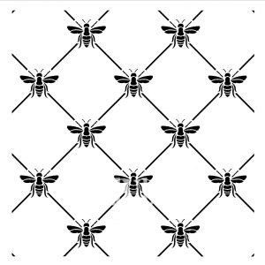 Posh Chalk – Schablone – nicht klebend – wiederverwendbar –  Bee Poshitive 30x30cm