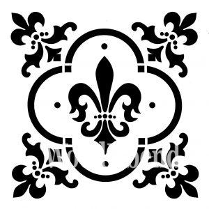 Posh Chalk – Schablone – nicht klebend – wiederverwendbar –  Fleur De Lis 30x30cm