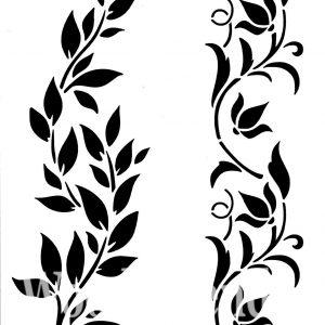 Posh Chalk – Schablone – nicht klebend – wiederverwendbar –  Hollywood and Vine 21x30cm