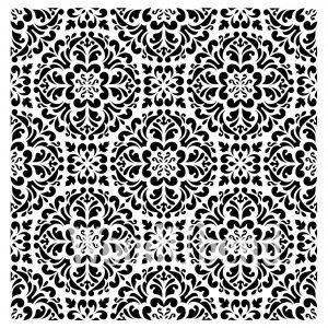 Posh Chalk – Schablone – nicht klebend – wiederverwendbar –  Kaleidoscope 50x50cm