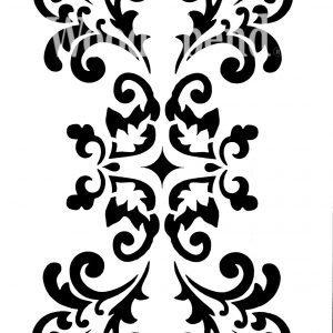 Posh Chalk – Schablone – nicht klebend – wiederverwendbar –  Longwall Panel 140x20cm