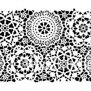 Posh Chalk – Schablone – nicht klebend – wiederverwendbar –  Posh Hippy Lace (small) 35x49cm