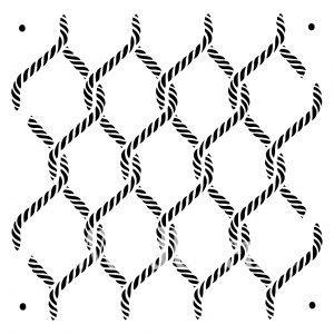 Posh Chalk – Schablone – nicht klebend – wiederverwendbar –  Posh Knots 60x60cm