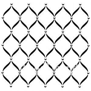 Posh Chalk – Schablone – nicht klebend – wiederverwendbar –  Posh Trellis 80x80cm