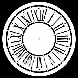 Posh Chalk – Schablone – nicht klebend – wiederverwendbar –  Posh O'Clock 80x80cm