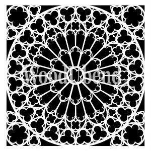 Posh Chalk – Schablone – nicht klebend – wiederverwendbar –  Stone Rosette 40x40cm