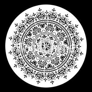 Posh Chalk – Schablone – nicht klebend – wiederverwendbar –  WoodUMandala 40x40cm