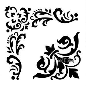 Posh Chalk – Schablone – nicht klebend – wiederverwendbar –  WoodUbends 30x30cm