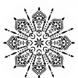 Posh Chalk – Schablone – nicht klebend – wiederverwendbar –  Spider Mandala 40x40cm
