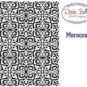 Dixie Belle Schablone – nicht klebend – wiederverwendbar –  Morocco 40x50cm