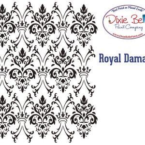 Dixie Belle Schablone – nicht klebend – wiederverwendbar –  Royal Damask 40x50cm