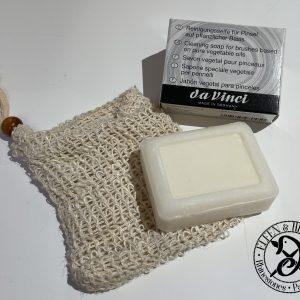 Da Vinci Künstlerpinsel Reinigungsseife für Pinsel inklusive Seifensäckchen