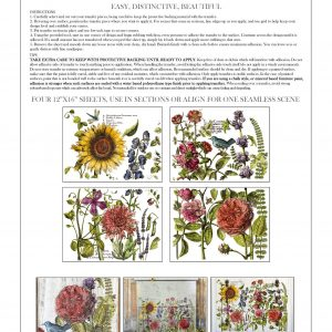 "IOD Decor Transfer ""Botanist Journal"" 12 x 16 inch Block"