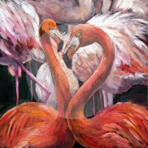 """Mint by Michelle Decoupage Papier """"Flamingos"""""""