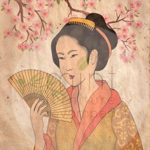"""Mint by Michelle Decoupage Papier """"Geisha"""""""