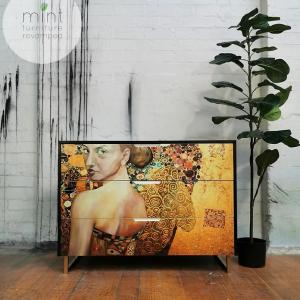 "Mint by Michelle Decoupage Papier ""Beautiful Lady In Gold"""