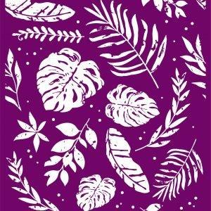 Belles and Whistles Silkscreen Schablone – leicht klebend – wiederverwendbar –  Botanical 20x25cm