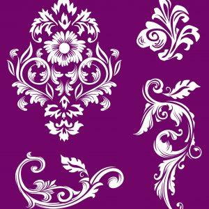 Belles and Whistles Silkscreen Schablone – leicht klebend – wiederverwendbar –  Floral 20x25cm