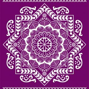 Belles and Whistles Silkscreen Schablone – leicht klebend – wiederverwendbar –  Mandala 20x25cm
