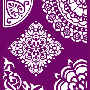 Belles and Whistles Silkscreen Schablone – leicht klebend – wiederverwendbar –  Mosaic 20x25cm