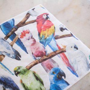 Belles & Whistles Decoupage Paper Birds 3 Blatt à 30 x 42cm