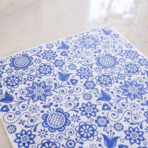 Belles & Whistles Decoupage Blue Glass Ornate 3 Blatt à 30 x 42cm