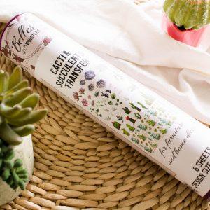 Belles & Whistles Transfer Cacti & Succulents 65.5 x 98 cm