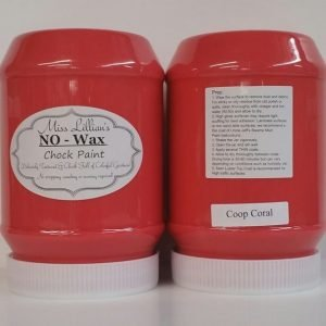 Miss Lillian's NO WAX Chock Paint Coop Coral