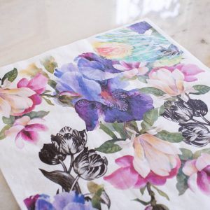 Belles & Whistles Decoupage Paper Colorful Floral with Black and White 3 Blatt à 30 x 42cm