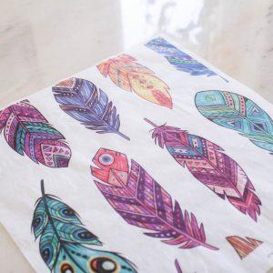 Belles & Whistles Decoupage Paper Feathers 3 Blatt à 30 x 42cm