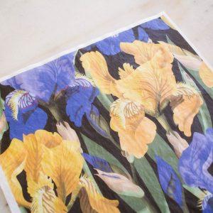 Belles & Whistles Decoupage Paper Floral on Black 3 Blatt à 30 x 42cm