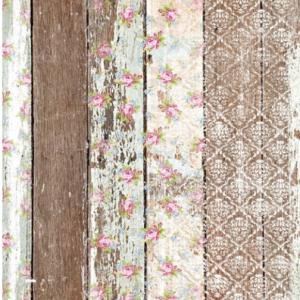 Belles & Whistles Decoupage Paper Pallet Wood Pattern 3 Blatt à 30 x 42cm