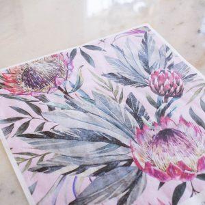 Belles & Whistles Decoupage Paper Tropical on Pink 3 Blatt à 30 x 42cm