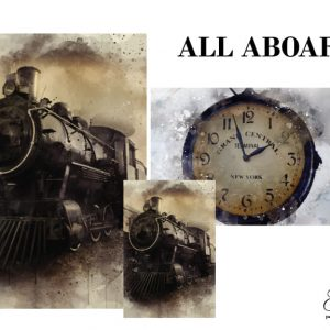 "Grace on Design Decoupage Papier ""All Aboard"""